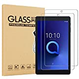 [2 Pack] EpicGadget Glass Screen Protector for Alcatel Joy Tab 2/Joy Tab/Joy Tab Kids and Tab 3T 8', Clear Anti Bubble Anti Scratch 9H Hardness Tempered Glass Screen Film for Alcatel Joy Tab 8' 2020