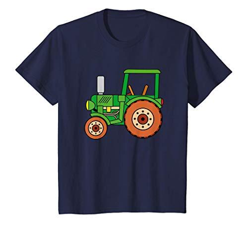 Kinder Grüner Traktor Traktorfahrer   Spielzeug Jungen Mädchen T-Shirt
