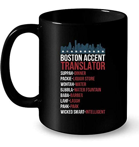 Boston Accent Translator Ceramic Mug For Wicked Smaht Bostonians