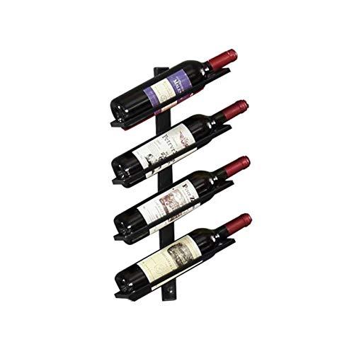 Botellero para vinos de pared vintage retro para restaurantes, bares, mobiliario diario del hogar, etc. Hold 4 bottles
