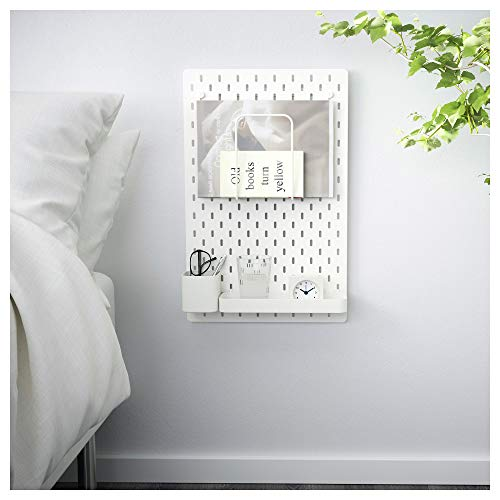 IKEA.. Skådis Pegboard Combination, Blanco