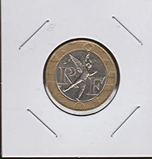 1989 FR Winged Figure Divides RF within Circle $10 Choice Extremely Fine