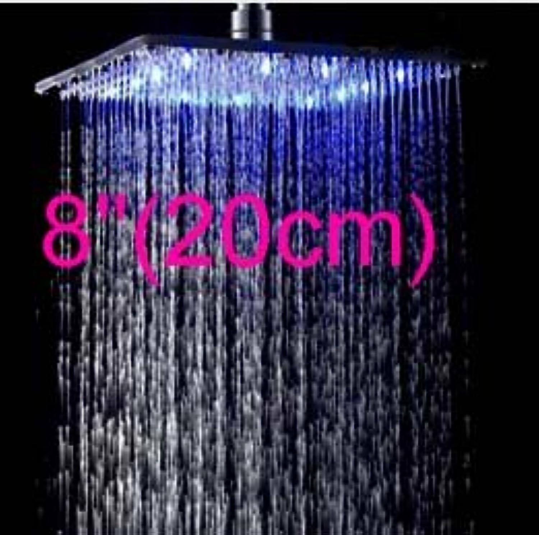 Galvanik Retro Wasserhahn Gro- und Einzelhandel Thermostatische 4 Wege Ventil Mischbatterie LED-Farbe ndern Regendusche Wasserhahn Set Massagedüsen Whirlpool Auswurfkrümmer Einheit, Wei
