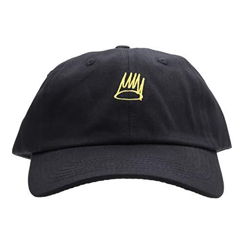 Born Sinner Crown Hat Dad Hat Baseball Cap Embroidered Adjustable 100% Cotton (Black)