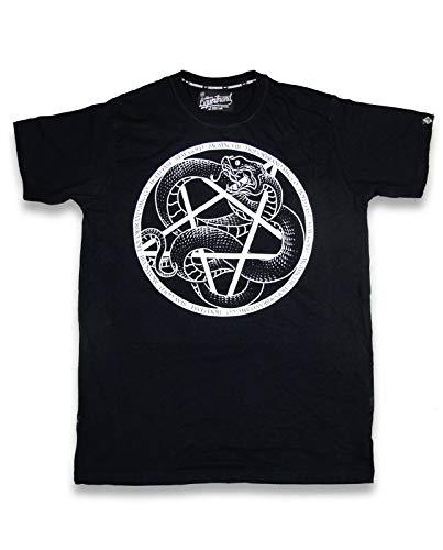 2019 New Brand Hot Liquor Brand Heren Serpent Pentagram T-Tee Shirt. Tattoo, Biker, Custom Clothing Style Tee Shirt