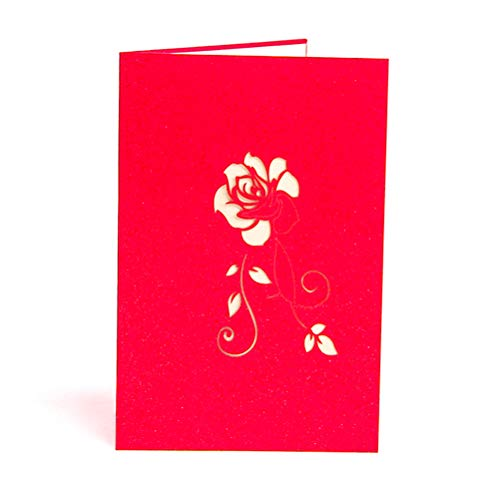 ENJOYPRO Rose Pop Up Card, Valentines day card, Mothers day card, 3d Rose Card, Rose Flower Greeting Card, Rose Birthday Card With Envelope For Valentine's day, Mother's day (3D Rose, Pack of 1) Photo #4