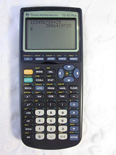 Texas Instruments TI-83 Plus Graphing Calculator (Certified Renewed)