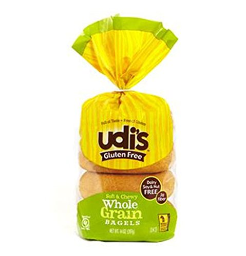 Udis Gluten Free Foods, Bagel Whole Grain Gluten-Free 5 Count, 13.9 Ounce