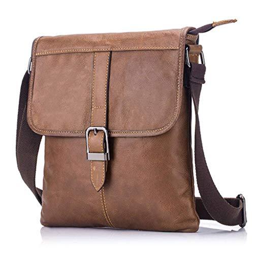 XYZMDJ Brown Lederen Business Bag, anti-diefstal tas, Outdoor Sports Crossbody zak, geschikt voor reizen en sport