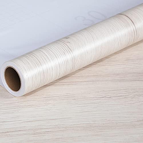 WSWJDW Carta da parati in legno impermeabile Adesivi murali Carta adesiva ante Porte Cabinet Desktop Adesivo decorativo per mobili moderni, 5,60 cm X 2 m (spessore)