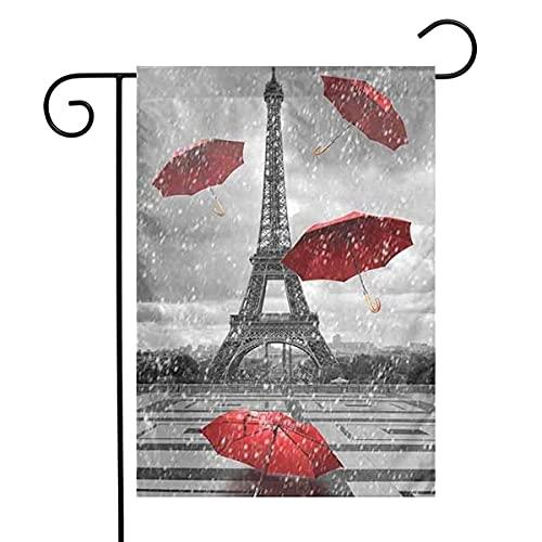 Sombrilla roja de la torre de las banderas del jardín de la casa decoración de la bienvenida interior y al aire libre, patio decorativo para la fiesta de la familia Banner