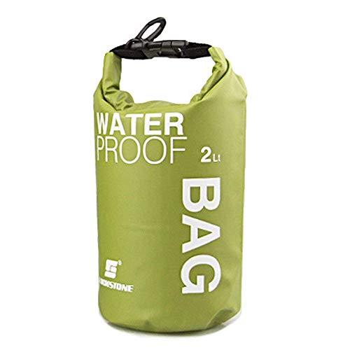 Bolsa impermeable portátil para cámara SLR de 2 L para camping, canotaje, kayak, rafting, pesca, color verde, práctica y popular