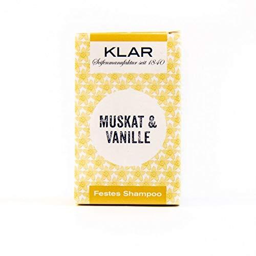 Klar's - Bar Shampoo - Muskat & Vanille - festes Shampoo - für normales Haar - 100 g