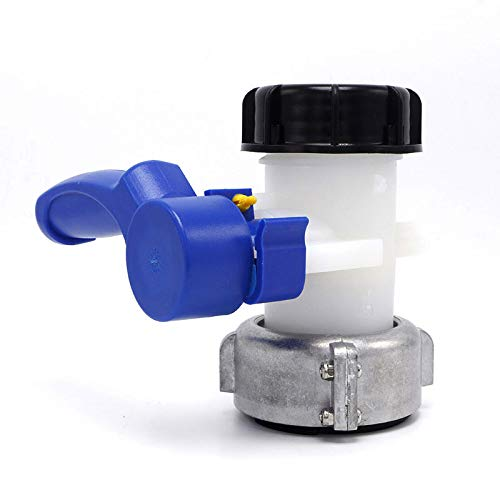TF Universal IBC-Wassertank Universal Adapter Ersatzhahn IBC Behälter Container Hahn Auslass regelventil DN40/50 Kunststoff Kugelhahn Zubehör Tank Behälter