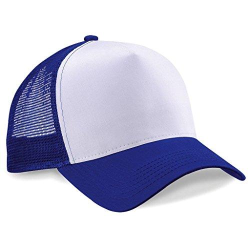 Beechfield Trucker Snapback Unisexe Taille unique bleu roi