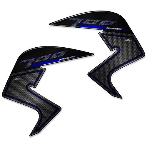 Protecciones Lateral 01 Adhesivos 3D Compatible con Yamaha Tracer 700 2019 Azul