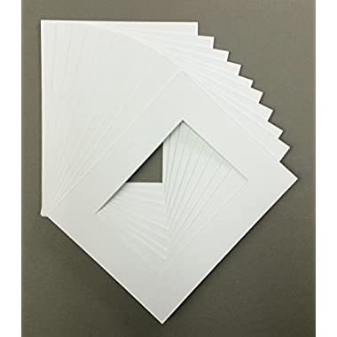 Golden State Art, Pack of 10 11x14 White Picture Mats with White Core Bevel Cut for 8x10 Pictures