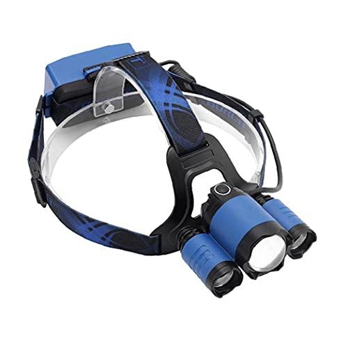 Faro Que acampa Brillante Faro de Pesca de LED de Carga de Peso Ligero Impermeable para al Aire Libre Ciclismo Escalada Correr Azul