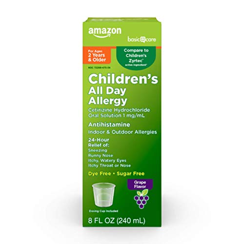 Amazon Basic Care Children's Allergy Relief Loratadine Oral Solution 5 mg/5 mL, 4 Fluid Ounces