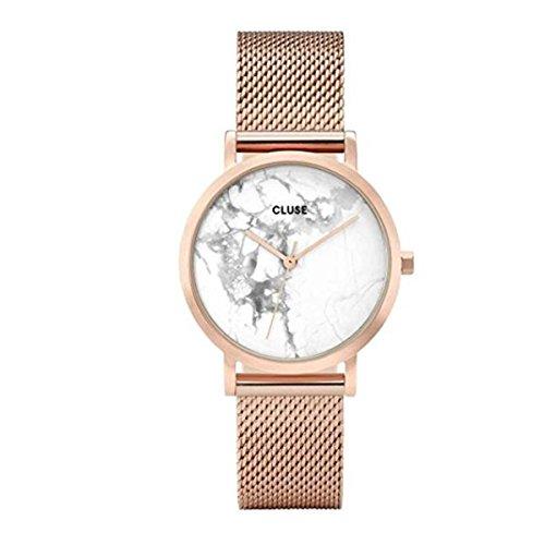 Cluse Damen Analog Quarz Uhr mit Edelstahl Armband CL40007