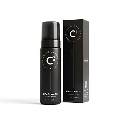 C3 Head Wash: Hydrating and Balancing, Lightly Fragranced Daily Foam Cleanser for Bald, Shaved, and Buzzed Heads. Gentle, Sulfate-free, Paraben-free, Irritation-Free Face and Scalp Care for Men and Wo