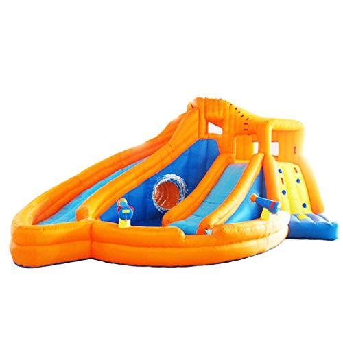 Castillo Inflable para niños Tobogán al Aire Libre Parque Grande para niños Parque Infantil Grande Trampolín para niños de Juguete Piscina para niños (Color : Orange, Size : 665 * 540 * 330cm)