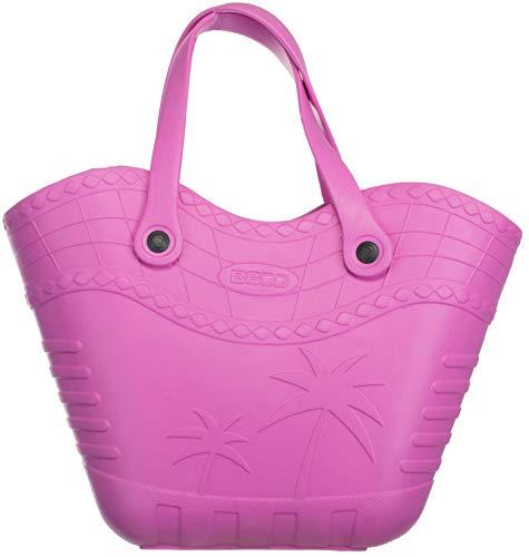 Brandsseller Handtasche Strandtasche Einkaufstasche Aus Kunststoff Größe: ca.36x23x12 cm - Farbe: Pink
