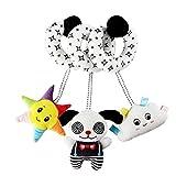 Juguetes de peluche en espiral para bebé, cochecito de juguete blanco y negro, juguete de actividad elástica y en espiral, juguetes para el asiento de coche, cuna de bebé, juguetes colgantes