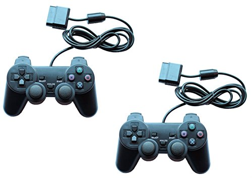 2x Gamepad Controller Joypad für Playstation 2 PS2 und Playstation 1 PS1