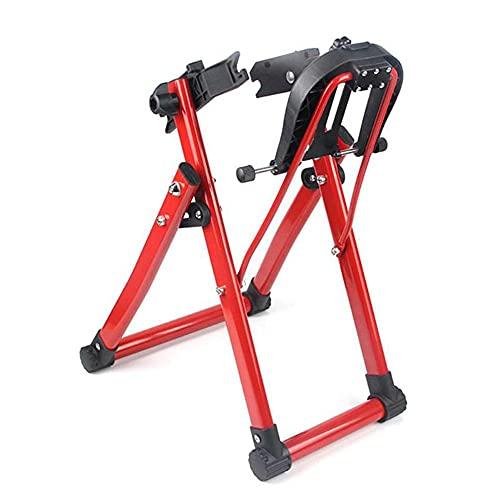 Soporte De Mantenimiento De Bicicletas Ajustable, 16~29 Pulgadas De Aleación De Aluminio Plegable Soporte De Bicicletas Mecánicas Para Bicicleta De Carretera De Montaña Herramienta De Alineación,Rojo