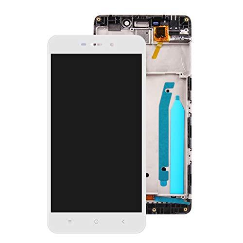 Pantallas LCD para teléfonos móviles 5.0 '' LCD Pantalla de Pantalla táctil Montaje digitalizador con Marco/Ajuste para Xiaomi Redmi 4 Pro Snapdragon 625 Version LCD (Color : White with Frame)