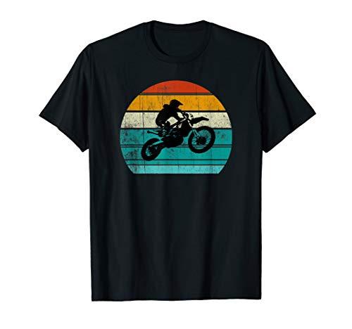 Dirt Bike Motocross Motorcycle Vintage Retro Gift Boys Men T-Shirt