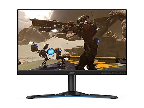 "Lenovo Legion Y25-25 - Monitor de 24.5"" FullHD (1920x1080, 16:9, TN IPS Pro Gaming, FreeSync, 240 Hz, 1 ms, HDMI+DP, 3 lados sin bordes, ajustable en altura), Color Negro"