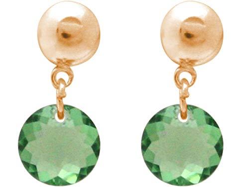 Gemshine Damen Ohrringe Turmalin Peridot grün MADE WITH SWAROVSKI ELEMENTS. 925 Silber, vergoldet oder rose - Nachhaltiger, qualitätsvoller Schmuck Made in Spain, Metall Farbe:Silber vergoldet