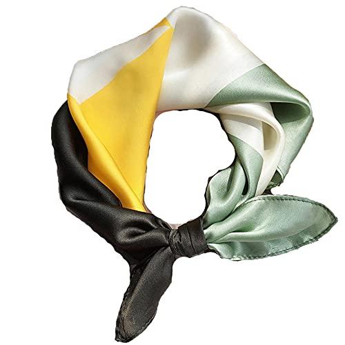 WRF 100% Bufandas de seda, 28 maneras de usarlas, bufandas de padres-hijos para padres, regalos perfectos, bufandas impresas de todo tipo para damas que se pueden usar en todas las estaciones.