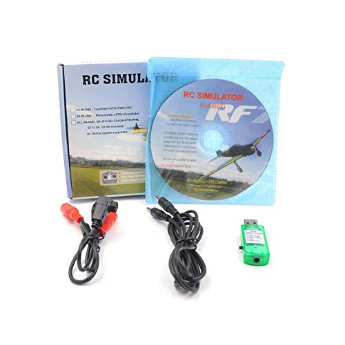 Rc Simulator Wireless Cable 20In1 Flight Simulator Cable Usb Dongle para Rc Helicopter Airplane Car Toys (transparente) ESjasnyfall