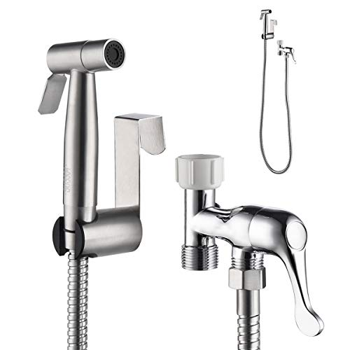 Cheap Handheld Bidet Sprayer for Toilet Water Control Adjustable Baby Cloth Diaper Washing Stainless...