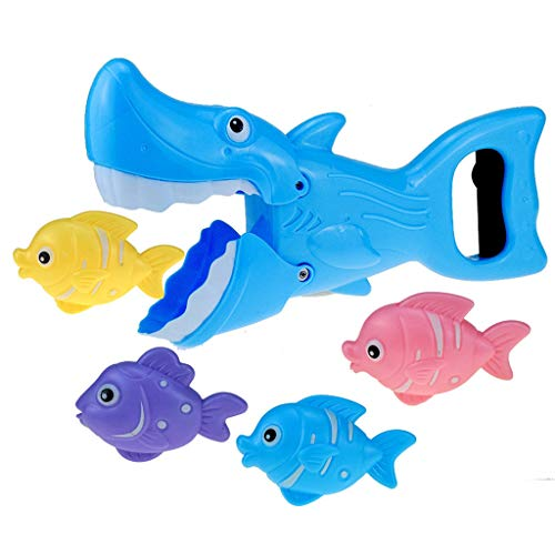 Shineshae Baby Kinder Badespielzeug Badewanne Spielzeug Großer Fisch ISS Kleiner Fisch Manipulator Spielzeug Set Perfekt für Kinder Frühe Bildung Game, Seelöwen Delphin Hai Hummer Zur Auswahl