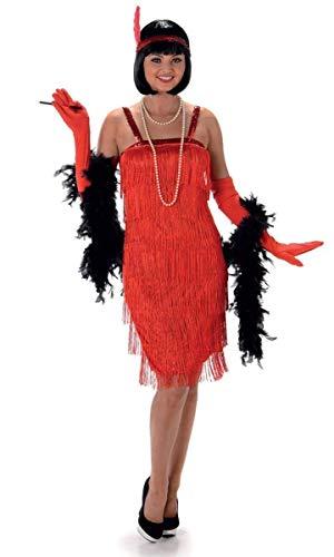 Karnival 81026 1920's Rode Flapper Jurk Kostuum, Vrouwen, Klein