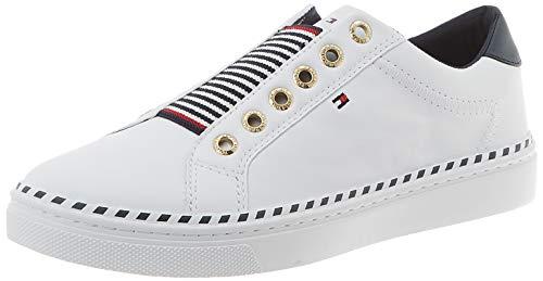 Tommy Hilfiger Damen Tommy Elastic City Sneaker, Weiß (White Ybs), 38 EU