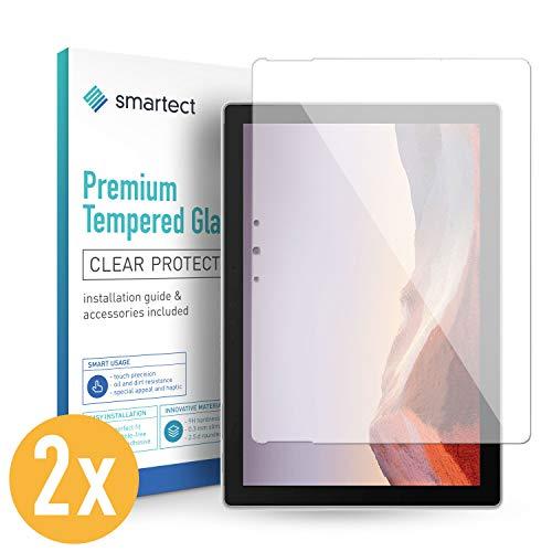 smartect Pellicola in Vetro Temperato per Surface PRO X [2 Pezzi] - Pellicola Protettiva con durezza 9H - Salvaschermo Anti-Impronte e Anti-Bolle
