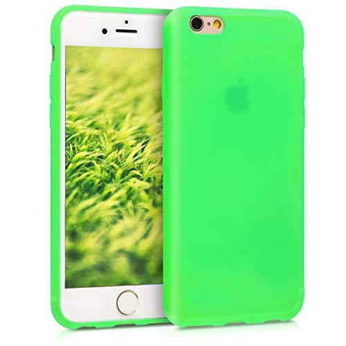 kwmobile Cover Compatibile con Apple iPhone 6 / 6S - Custodia in Silicone TPU - Backcover Protezione Posteriore- Verde Fluorescente