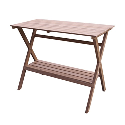 Merry Garden Fir Wood Potting Bench and Console Table