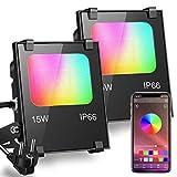 iLC Foco LED RGB de Colores 15W Inteligente Controlado por la Aplicación de Teléfono Foc...