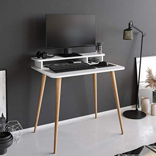 P&W Escritorio de ordenador portátil con elevador de pantalla para el hogar, oficina, mesa de trabajo, mesa de trabajo, mesa de trabajo, escritorio de pie, para casa, oficina, muebles, escritorios y