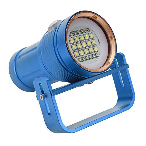 Sencillo Buceo Linterna, No reflexivo taza, Plano Luz No reflexivo taza 300-500 METRO súper Brillante Linterna Aluminio Aleación por Escalada Cámping