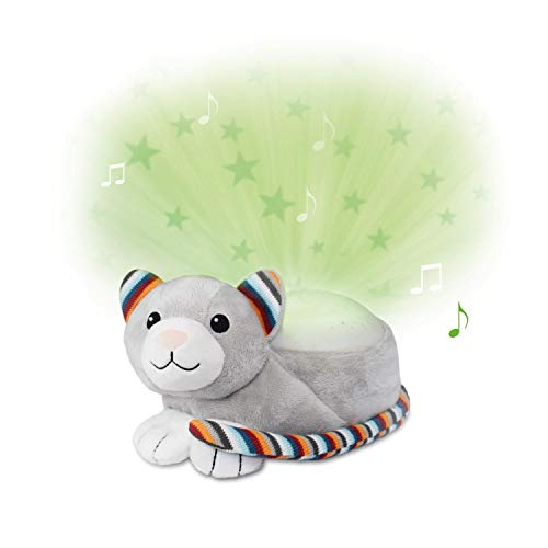 Zazu Kinder Star Projektor Nachtlicht mit Musik, Kiki das Kätzchen grau