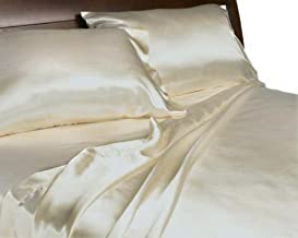 Royal Opulance Luxurious Satin Queen Sheet Set,Ivory