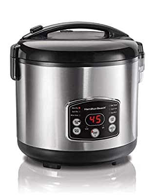 Hamilton Beach Rice & Hot Cereal Cooker, 10-Cups uncooked resulting in 20-Cups (Cooked), 37541