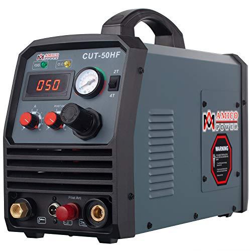 Amico CUT-50HF 50Amp Non-touch Pilot Arc Plasma Cutter, Pro. 95~260V Wide Voltage, 3/5 in. Clean Cut Cutting Machine
